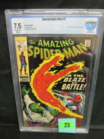 Amazing Spider-man #77 (1969) Silver Age Lizard App. Cbcs 7.5