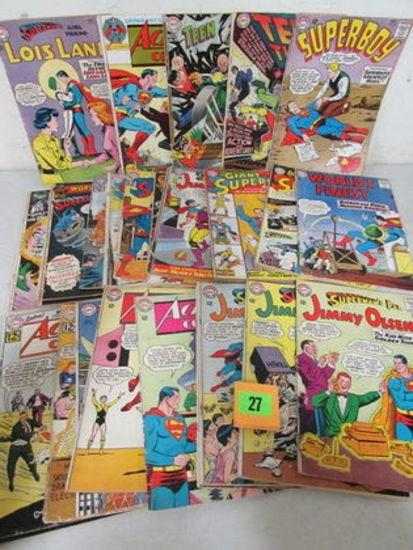 Huge Lot (27) Silver Age Dc Comics Superman, Action+ Low Grade
