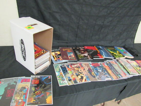 Short Box Filled, Mostly Tpb's, Graphic Novels Plus Superman & Batman