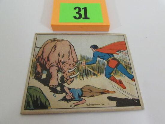 Rare 1940 Gum Inc. Superman Card #42