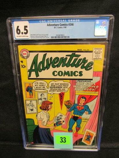Adventure Comics #246 (1958) Golden Age Superman Cgc 6.5