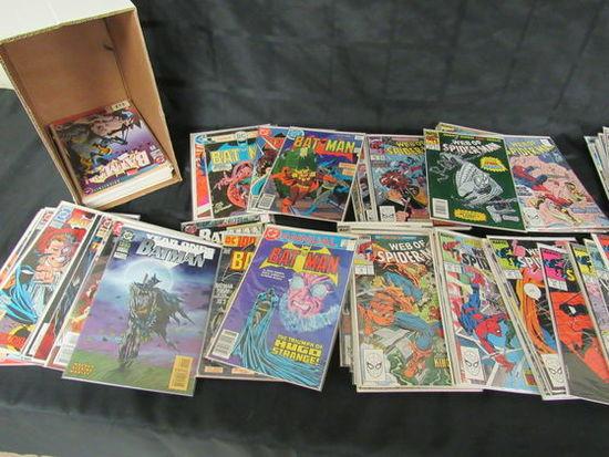 Short Box (approx. 125+) Mostly Copper Age Web Of Spiderman/ Batman
