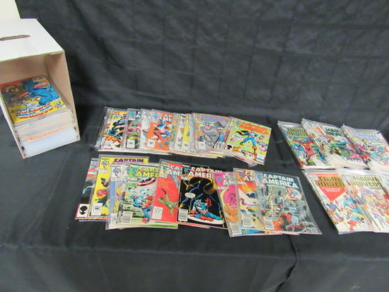 Short Box (approx. 125) All Marvel/ Captain America