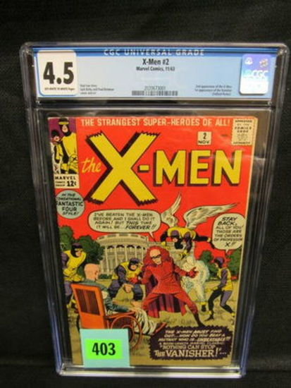 X-men #2 (1963) Silver Age Key 1st Vanisher/ 2nd X-men Cgc 4.5