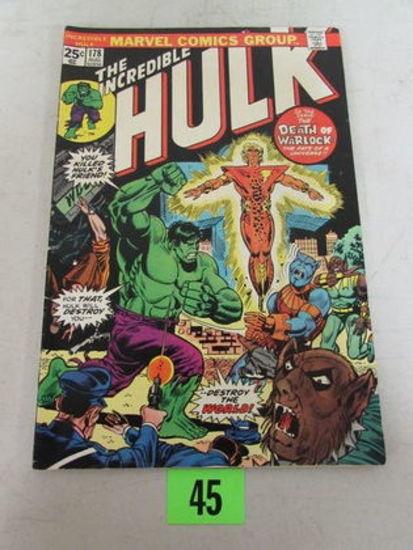Incredible Hulk #178 (1974) Death/ Re-birth Warlock