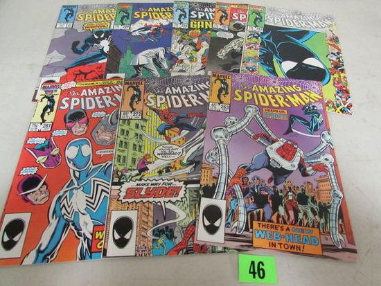 Amazing Spiderman Copper Age Lot (8) Black Costume 1980's
