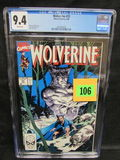 Wolverine #25 (1990) Classic Jim Lee Cover Cgc 9.4