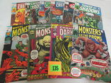 Lot (10) Silver / Early Bronze Age Marvel Horror