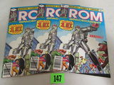(3) Rom #1 (1979) Bronze Age Marvel Lot