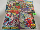 Amazing Spider-man Bronze Age Lot #143, 155, 156, 158, 160.