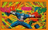 Rare 1971 Marvel/ Third Eye Captain America Black Light Poster