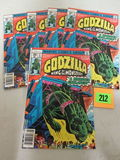 Lot (5) Godzilla #6 (1978) High Grade Bronze Age Marvel