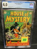 House Of Mystery #5 (1952) Rare Golden Age Dc Horror Cgc 4.0