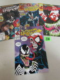 Amazing Spider-man #332, 333, 346, 347 All Venom Covers