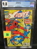 X-force #11 (1992) Key 1st Appearance Domino Cgc 9.8