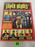 1966 On The Scene Super Heroes #1 (warren Pub.) Batman/ Joker Photo Cover Sharp