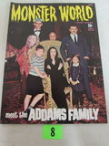 Monster World #9 (1966) Warren Pub/ Classic Addams Family Photo Cover