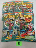 Lot (6) Avengers #132 (1976) High Grade Bronze Age