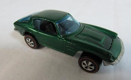 Vintage 1969 Redline Hot Wheels Maserati Minstrel- Green