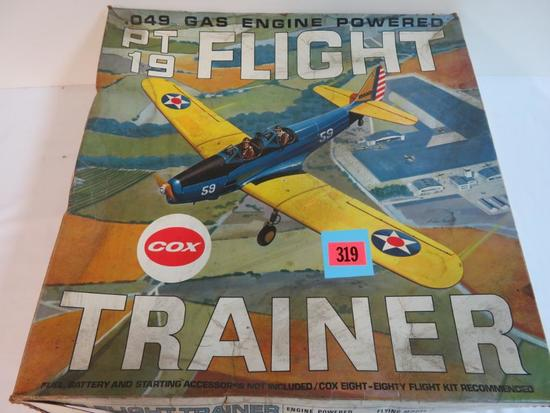 Vintage Cox PT-19 Gas Engine Flight Trainer Model Plane MIB