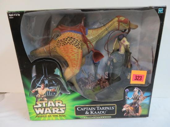"1990 Star Wars POTJ 12"" Series Captain Tarpals & Kaadu Deluxe Boxed Set MISB"