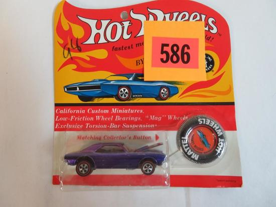 Rare Original 1968 Redline Hot Wheels Custom Camaro SEALED MINT MOC Purple