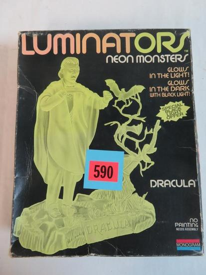 Vintage Monogram Dracula Luminators Glow in the Dark Model Kit