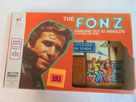 Vintage 1976 Milton Bradley Happy Days-The Fonz Hanging Out at Armold Game