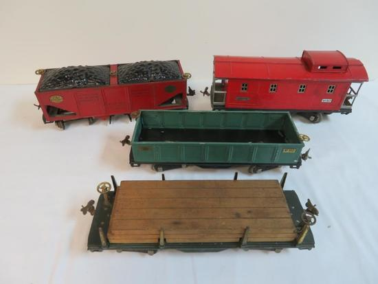 Lionel Pre-War Standard Ga. Train Lot #511, 512, 516, 517