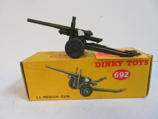 Vintage 1950's/60's Dinky Toys #692 5.5 Medium Gun Cannon MIB