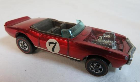 Vintage 1969 Redline Hot Wheels Light-my-Firebird Red