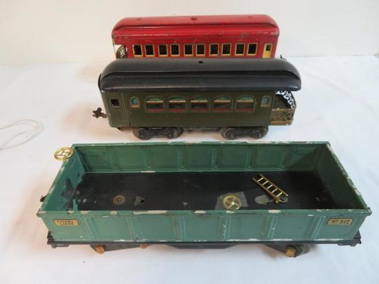 Lionel Pre-War Standard Gauge Lot (3) Cars