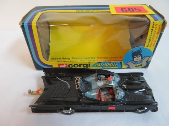 "Vintage 1979 Corgi 5"" Batmobile in Orig. Box"