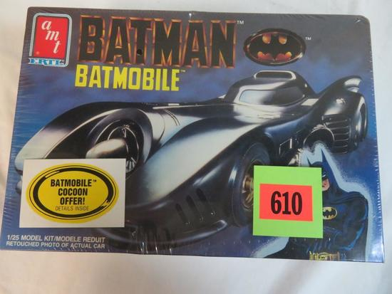 1989 AMT Batman Batmobile Movie Edition 1/25 Model Kit Sealed