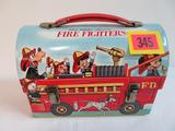 Vintage 1950's/60's Disney Fire Fighters Metal Dome Top Lunchbox