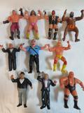 Lot (10) Vintage 1980's LJN Rubber WWF Wrestlers Figures
