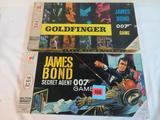 Lot (2) Vintage Milton Bradley James Bond 007 & Goldfinger Board Games