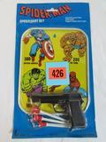 RARE Vintage Spider-Man Spider Dart Set Metal Target MOC