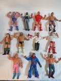 Lot (11) Vintage 1980's LJN Rubber WWF Wrestlers Figures