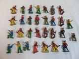 Grouping of Antique Lead Cowboys and Indians