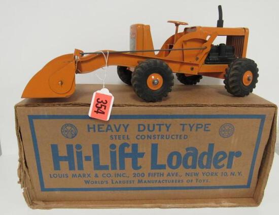 Vintage Lumar Marx Pressed Steel Hi-Lift Loader MIB