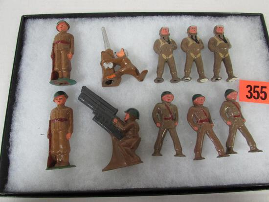 Lot (10) 1940's Barclay/ Manoil Lead Soldiers NOS MINTY