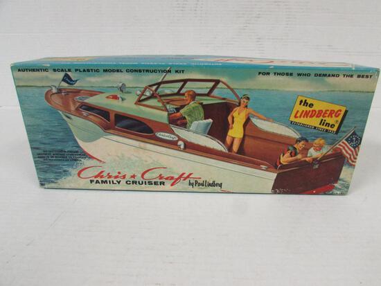 Vintage 1950's Lindberg Chris Craft Family Cruiser Boat model Kit