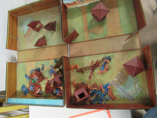 Lot (2) Partial Marx Fort Apache Playsets