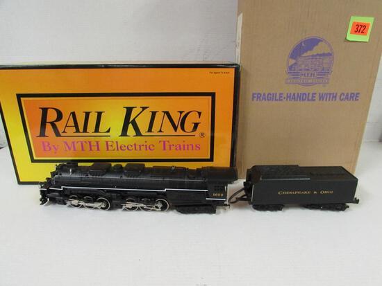 Rail King MTH #30-1218-1 C&O Allegheny 2-6-6-6 Steam Engine & Tender MIB