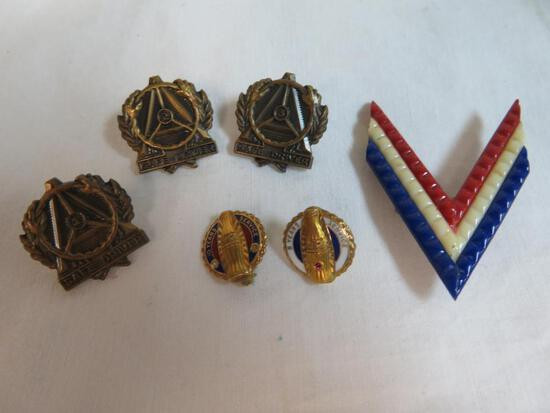 Excellent Grouping of Antique Service Pins includes (2) Rare Coca-Cola