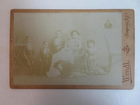 c.1885 Horvath Midges Sideshow Circus Cabinet Photo
