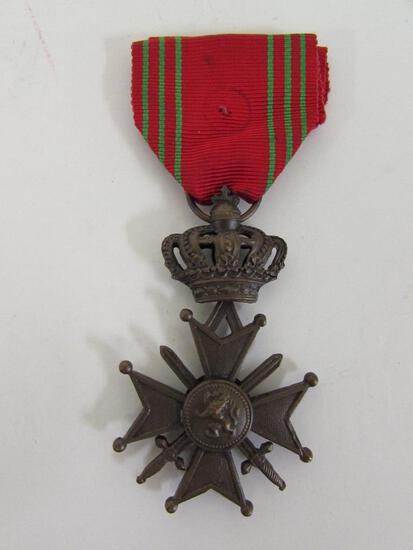 WWII Belgian War Cross Croix de Guerre Medal