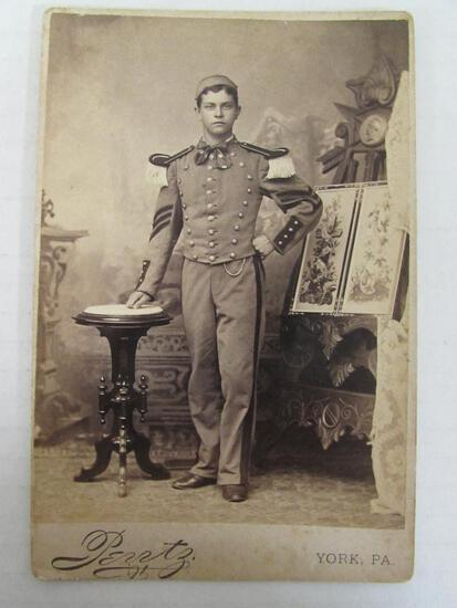 Span-Am War Soldier Cabinet Card Photo