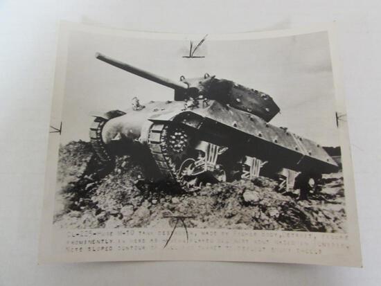 WWII Era M-10 Tank Press Photo